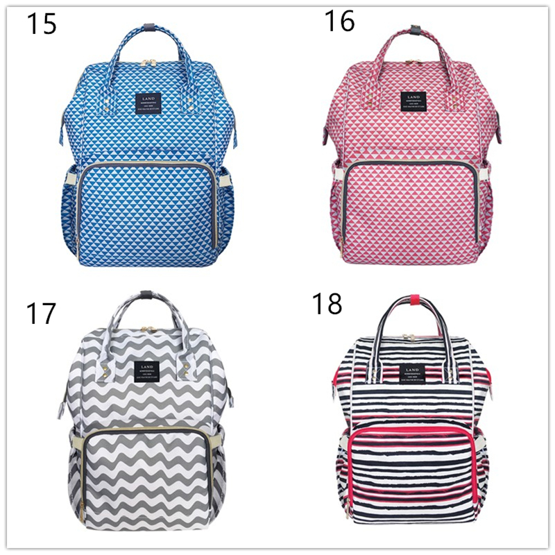 HTB17fzzmcuYBuNkSmRyq6AA3pXaE Authentic LAND Mommy Diaper Bags Mother Large Capacity Travel Nappy Backpacks anti-loss zipper Nursing Bags for baby  MPB01