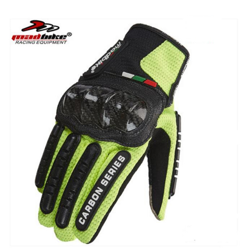 2018 neue MAD BIKE Carbon faser touchscreen motorrad handschuhe sommer atmungs Off-road motorrad handschuh Racing ritter handschuhe image