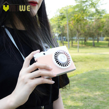 Portable USB Charging Mini Fan Camera Shape Rechargeable Handheld Wearable Fan Sports Outdoor Hanging Neck Air Conditioning Fan