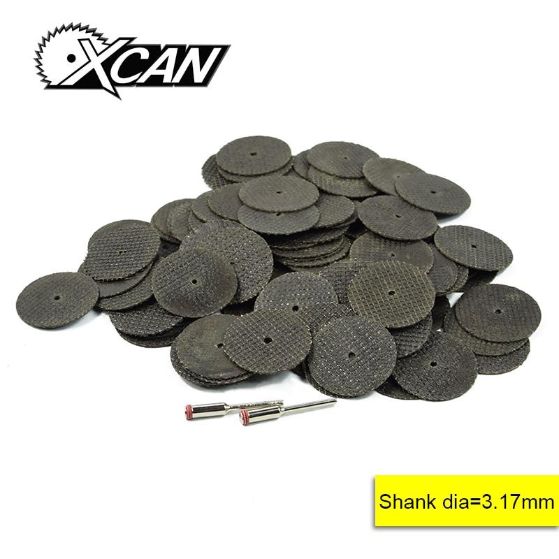 XCAN 102pcs Fit Dremel Totary Tools 100pcs Fiberglass Cutter Of Wheel  1/8'' Shank For Cut Wood