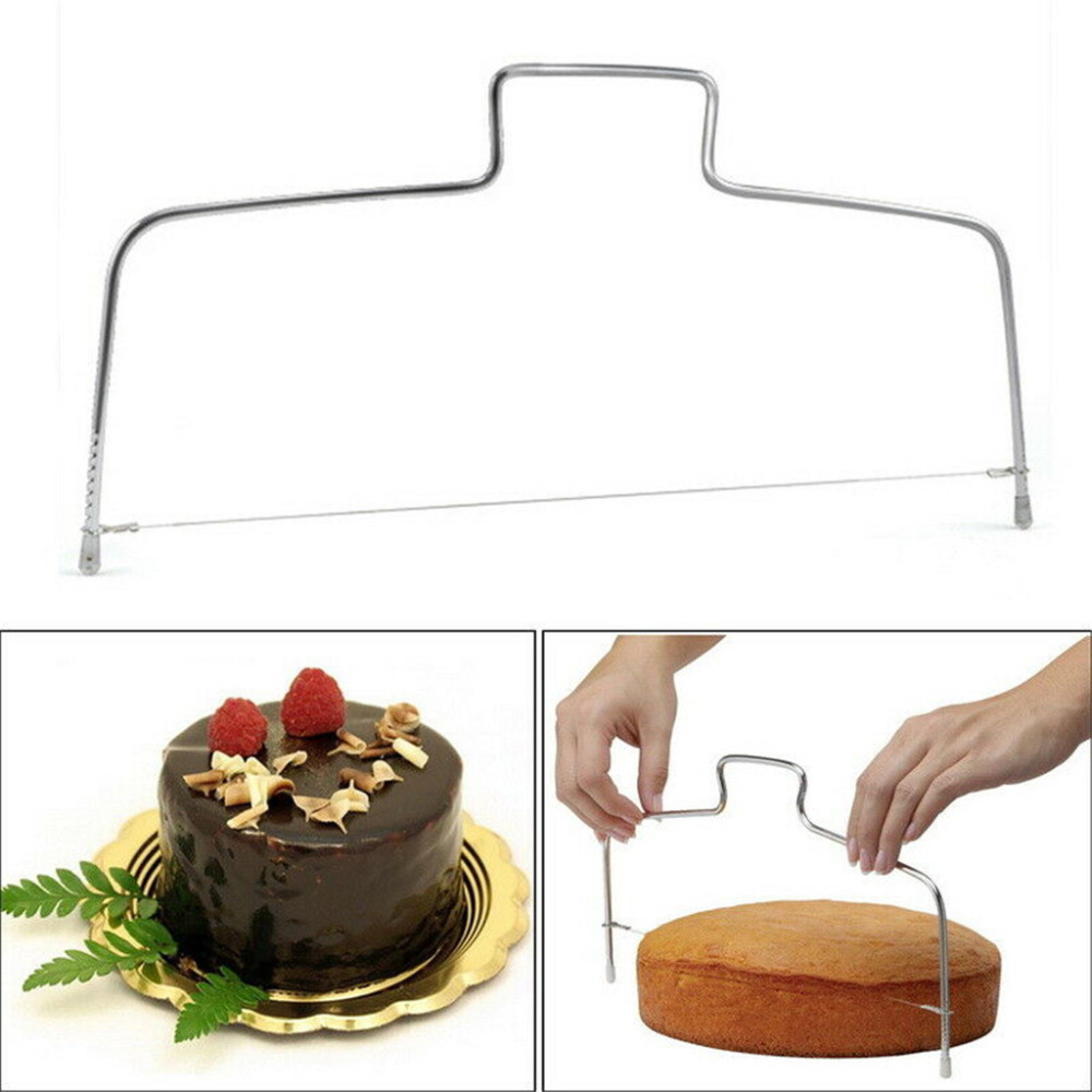Adjustable Wire Stainless Cake Slicer Leveler Pizza Dough Cutter Trimmer Tools