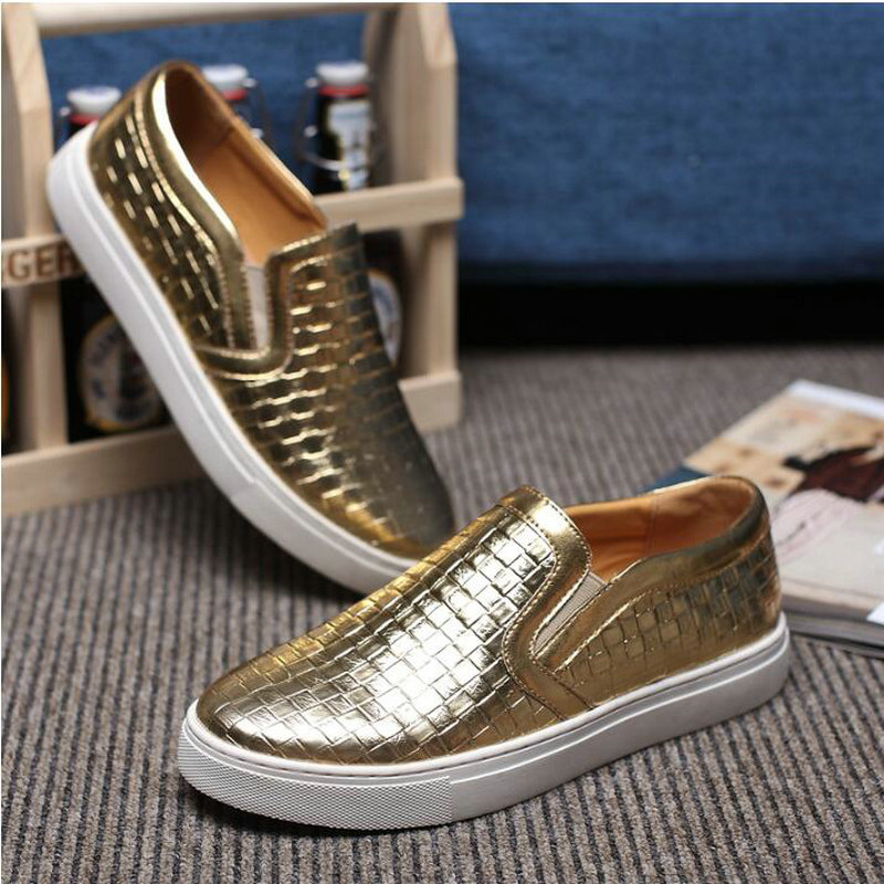 Sangat Fashion mens pu kulit sofa Sneakers pria Flat kulit sepatu - Sepatu Pria - Foto 4