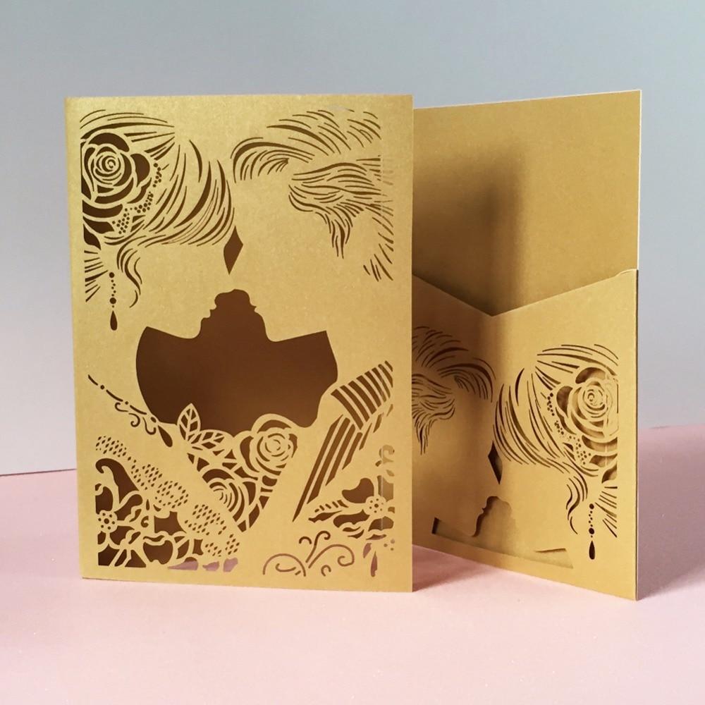 30pcslot Romantic Wedding Birthday Invitation Cards Bridegroom