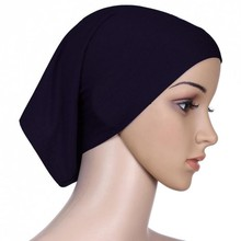 New Women Hijab Under Scarf Tube Hair Bonnet Cap Bone Islamic Head Cover 15 Colors PE1