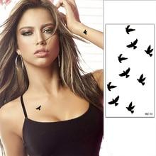 1pcs Women Sexy Finger Wrist Flash Fake Tattoo Stickers Liberty Small Birds Fly Design Waterproof Temporary Tattoos Sticker