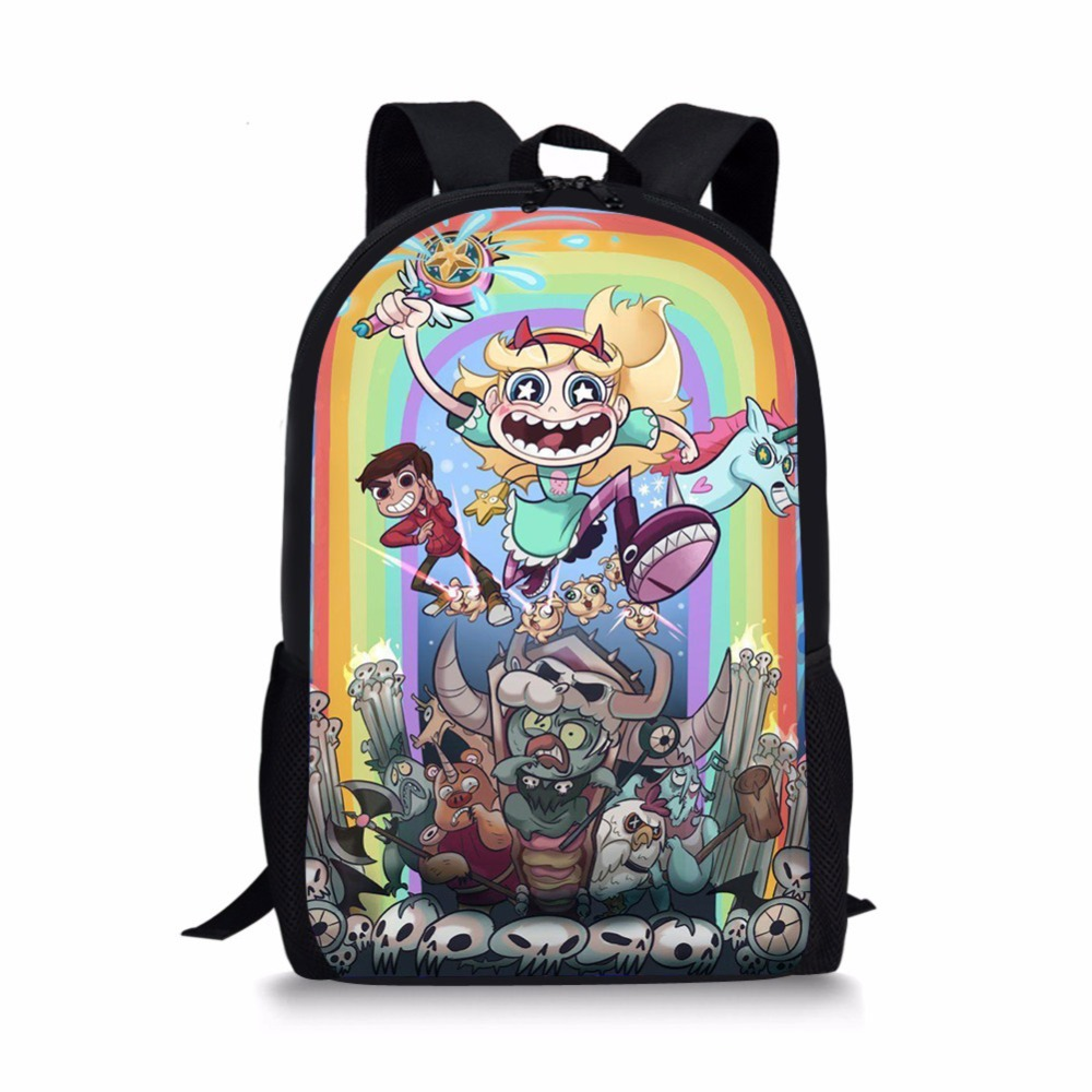 Fashion Cartoon Star Vs The Forces Of Evil Backpack SchoolBags For Kids Girls&boys Orthopedic Packbag Mochila Escolar