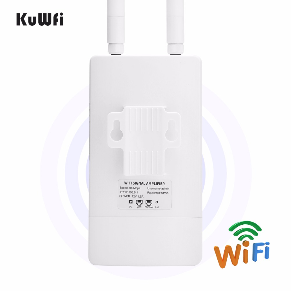 Image 3 - Outdoor Wireless WiFi Repeater WIFI Extender 300Mbps 2.4GHz Wide Area Waterproof Wi Fi Amplifier Wifi Router Antenna AP-in Wireless Routers from Computer & Office