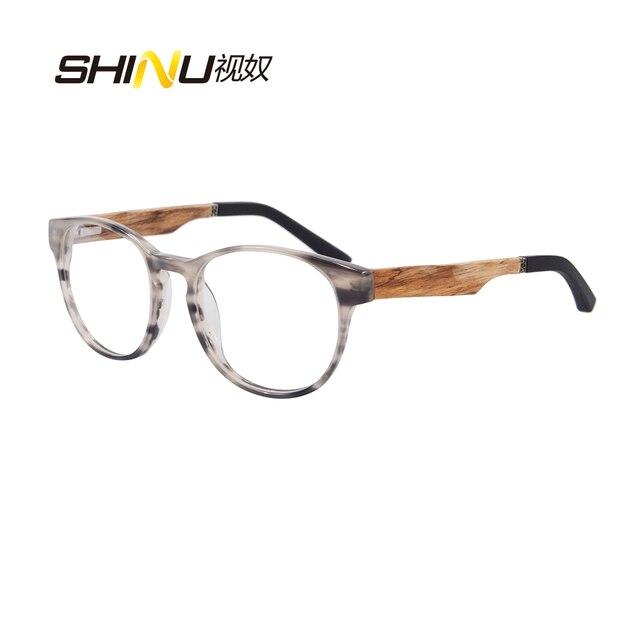 Luxury Brand Designer Glasses Women Acetate Optical Frame Wood Eyeglasses Frames Men Myopia Eyewear Oculos De Grau ZF110