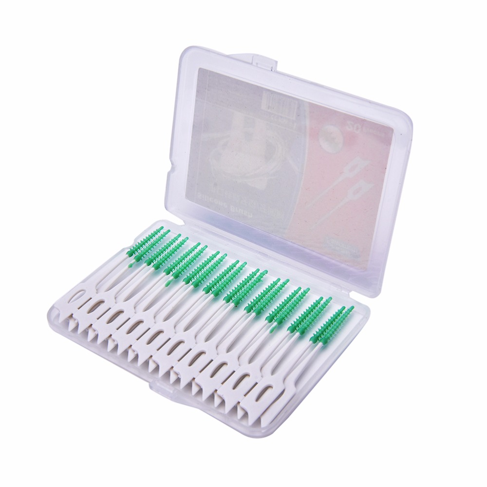 Interdental Brush Picks Dental Hygiene Instruments Soft Rubber Elasticity Tooth Picks Teeth Stick Escova Dental 20 Pcs/Set