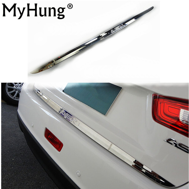 For Mitsubishi ASX 2013 2014 2015 2016 Car Rear guard rear Trunk Trim High Quality Stainless Steel Car-styling Auto Accessories car auto accessories rear trunk trim tail door trim for subaru xv 2009 2010 2011 2012 2013 2014 abs chrome 1pc per set