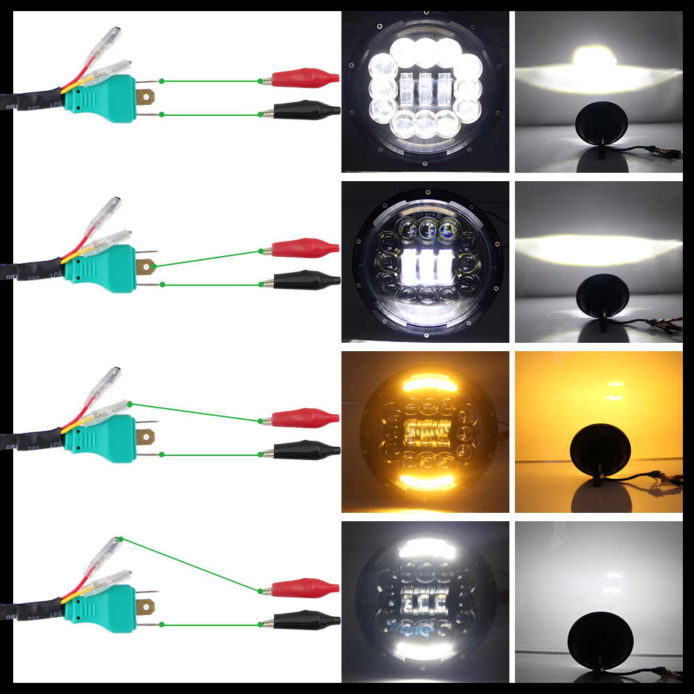 CO LIGHT 7 inch 180W LED Headlight 6D Led DRL Hi Lo 12V Car Driving Light for Jeep Wrangler Land Rover Lada Niva 4x4 6500K 3500K in Car Light Assembly from Automobiles Motorcycles