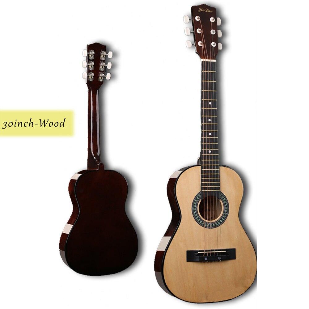 30 pouces guitare Folk acoustique Guitarra 6 cordes Top qualité tilleul pour enfants débutant donner des choix cadeau AGT05 - 4