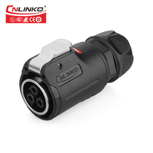 Image 2 - Cnlinko LP series M24 PBT matériel plastique, 3 4 broches 30A, prise de soudure, adaptateur dalimentation, câble, connecteur étanche IP67