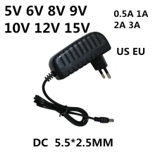 Ac 110 240V Naar Dc 5V 6V 8V 9V 10V 12V 15V 0.5 1A 2A 3A Universele Power Adapter Voeding Lader Adapter Eu Ons Voor Led Light Strips