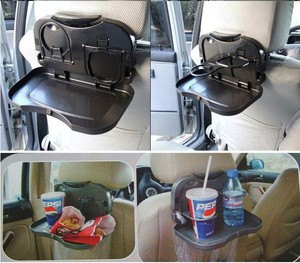 Image 1 - car seat cup holder box Car dining table folding pallet car back seat dish dining table car water cup holder shelf drink holder