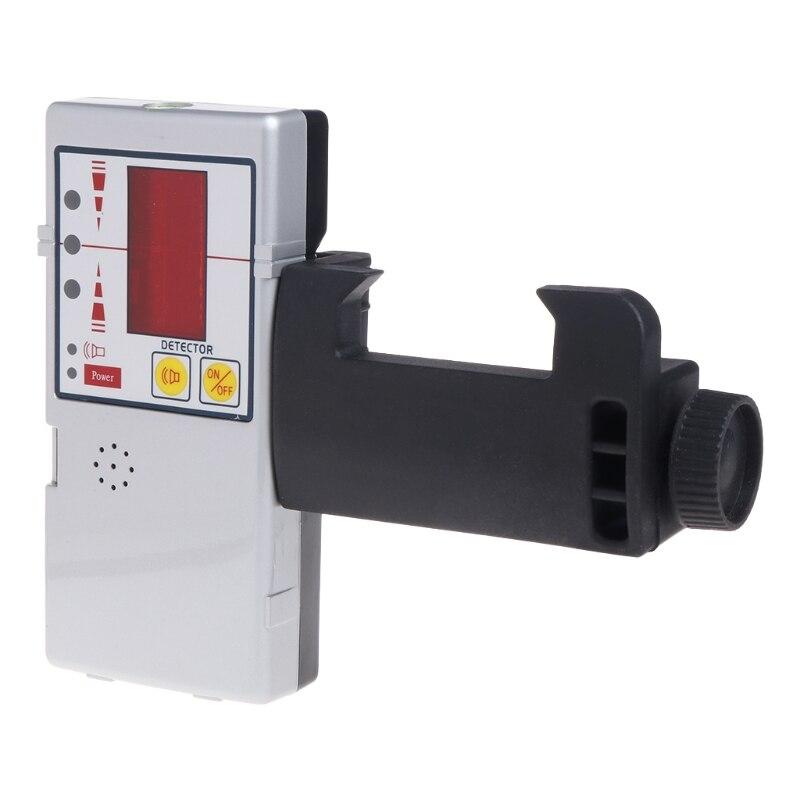 635nm Compatible faisceau rouge nivelant la ligne transversale Laser récepteur détecteur avec pince #0615