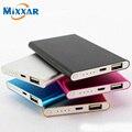 Mixxar 5600 mah power bank cargador portátil delgado powerbank cargador de batería externa 2200 mah para el iphone para xiaomi teléfonos móviles