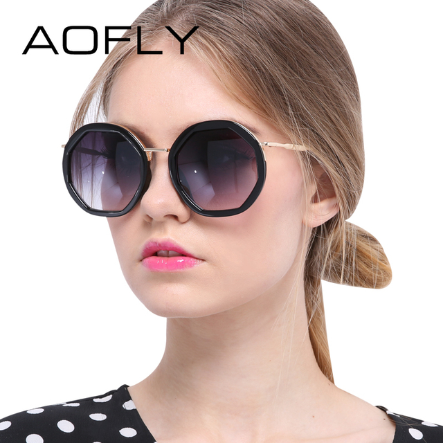 AOFLY Women Sunglasses Eyewear Shield Glasses Women Luxury Brand Design Reflective Coating Sun glasses Metal Legs Outdoor Goggle
