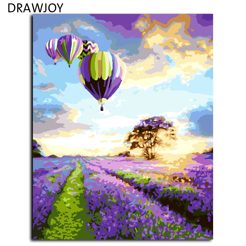 Abstract Frameless Picture Painting By Numbers DIY Canvas Ois