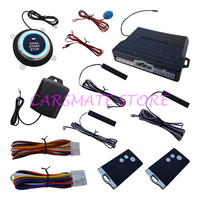 Universal PKE Car Alarm System Push Start Stop Button Passive Keyless Entry Auto Lock Car Door
