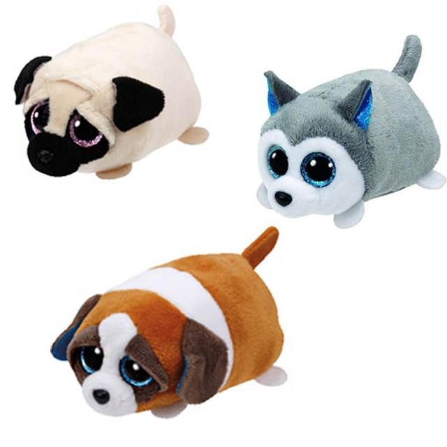 9 cm Ty Beanie Boos teeny tys Plush-Gelado o Selo Grandes Olhos TY Beanie Boo de Pelúcia Boneca de Brinquedo cão gato Do Bebê Caçoa o Presente