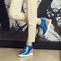 Na primavera de 2016 novas mulheres Européias de moda saltos de sapatos Po praça muffin com sapatos maré 34-42