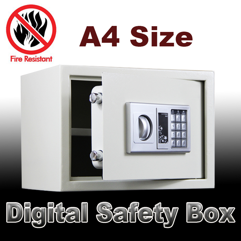 Digital safe box Fire Proof Ideal security secret box electronic password safe for Jewellery Gold caja fuerte coffre fort A4szie