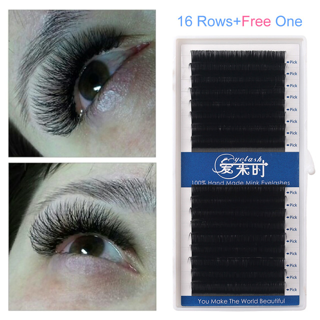16 Lines B C D Curl All Size Individual Eyelash Extension Soft Mink 0.03mm Faux 3D Russia Eyelashes for Professional