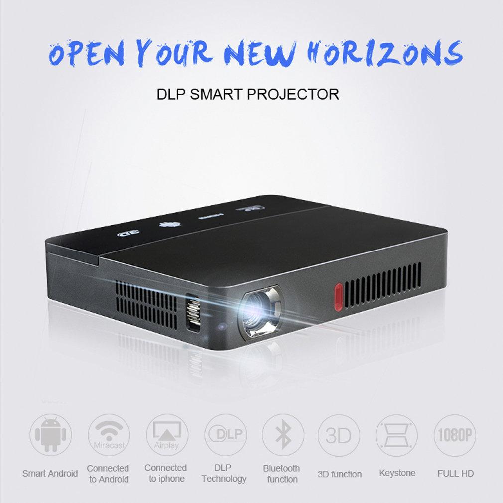 RD601 noir batterie de construction intelligente Andorid4.4 wifi LED MINI projecteur DLP 3D projecteur Miracast Home Cinema Airplay