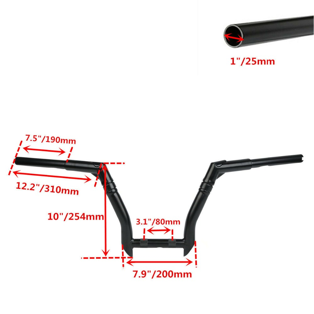 Black 10 quot Rise 1 1 4 quot Handle Bar Handlebar Fit For Harley 13 17 FXDB 16 17 Softail FLS FXDLS Fatboy FLSTF 00 17 in Covers amp Ornamental Mouldings from Automobiles amp Motorcycles