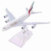 цена на Air Emirates A380 Airlines Airplane Model Airbus 380 Airways 16cm Alloy Metal Plane Model w Stand Aircraft M6-039 Model Plane