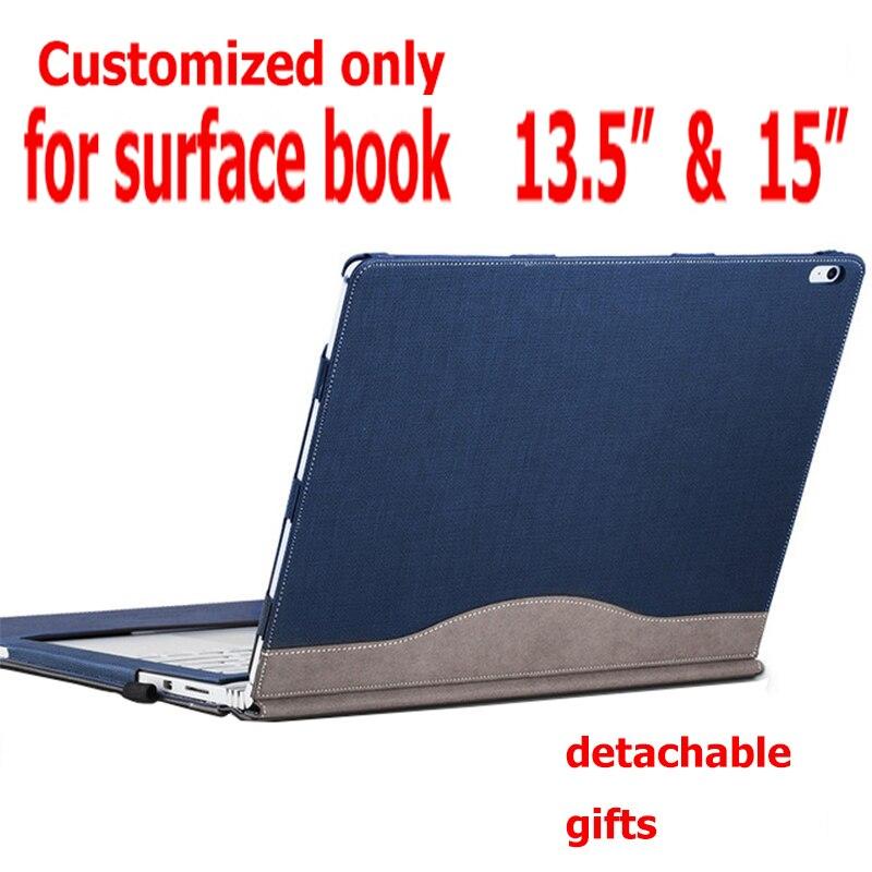 Couverture détachable pour Microsoft Surface Book2 livre 13.5 tablette pochette pour ordinateur portable étui en cuir PU protection peau clavier couverture cadeaux