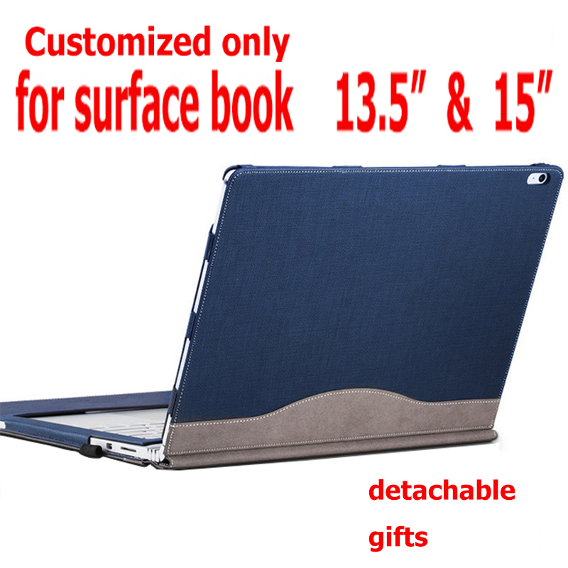Detachable Cover For Microsoft Surface Book2 Book 13.5 Tablet Laptop Sleeve Case PU Leather Protective Skin Keyboard Cover Gifts