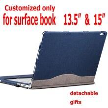 Съемный чехол для microsoft Surface Book2 Book 13,5 Tablet Laptop Sleeve, чехол из искусственной кожи, защитный чехол для клавиатуры, подарки