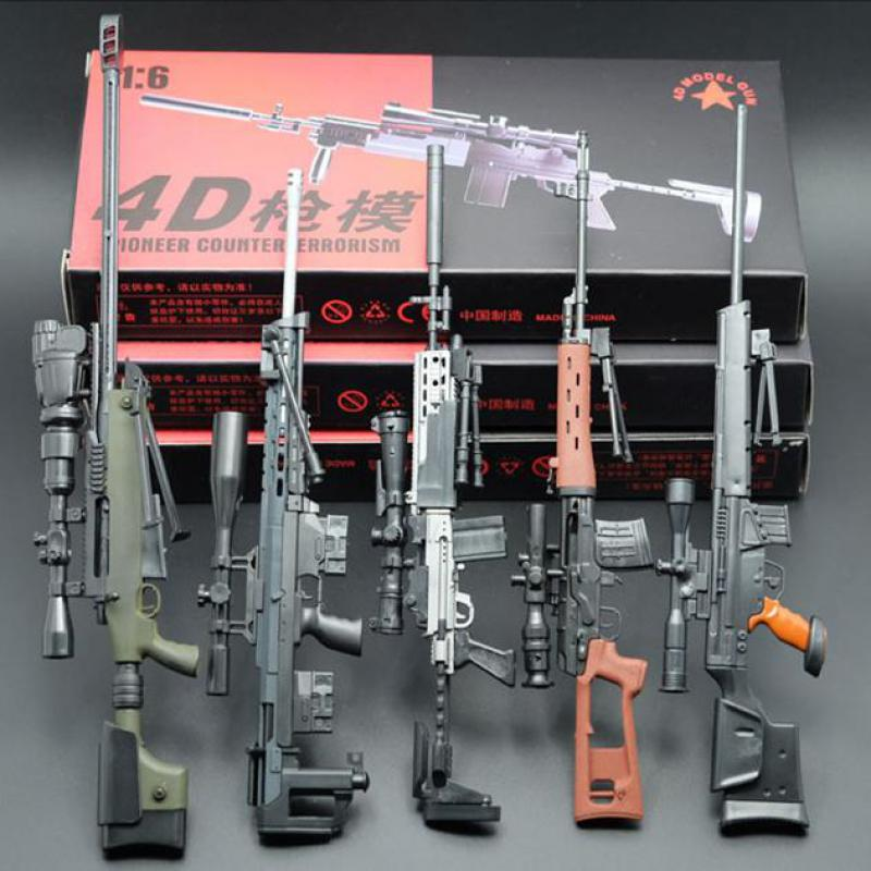 1:6 <font><b>Gun</b></font> Weapon Model Mini Weapons <font><b>Scale</b></font> Model <font><b>Guns</b></font> Assembly Toy For 12 Inches Action Figure Doll Gift Toys image
