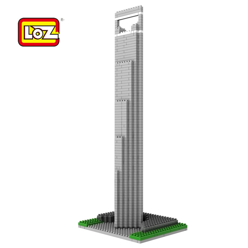 Loz mini diamond block world famous architecture Financial Center SWFC Shangha China city nanoblock model brick educational toys loz architecture famous architecture building block toys diamond blocks diy building mini micro blocks tower house brick street