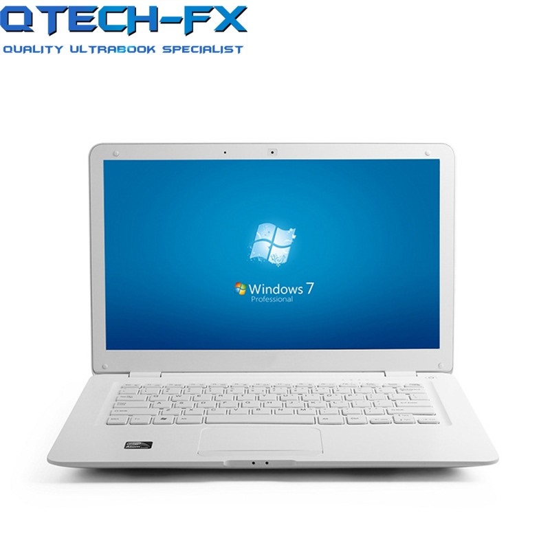 14.1 Inch Laptop Windows7 10 8GB RAM 750GB Harddisk CPU Intel Student Office PC WIFI Arabic AZERTY Russian Spanish Keyboard