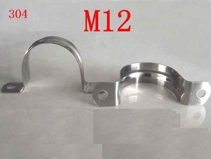 M12 、 304,321,316 ステンレス鋼乗馬クリップパイプクランプサドルクランプオームミリメートルクランプフープ u 字型のクリップクリップ馬に