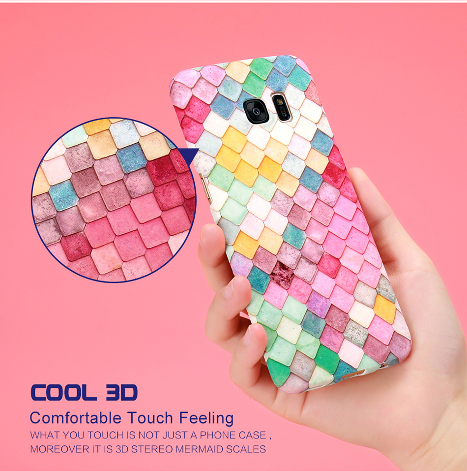 3D Scales Colorful Case For Phone 6 5 6S 7 Plus  (3)