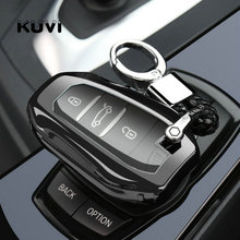 Tpu Car Key Case Cover Shell Skin For Peugeot 2008/301/307/3008/308/407/408/4008/508 Auto Smart Protection Key fob Cover Case jingyuqin 3buttons silicone key case cover for peugeot 508 301 2008 3008 4008 407 408 citroen c5 c6 c4l cactus c3xr ds smart key