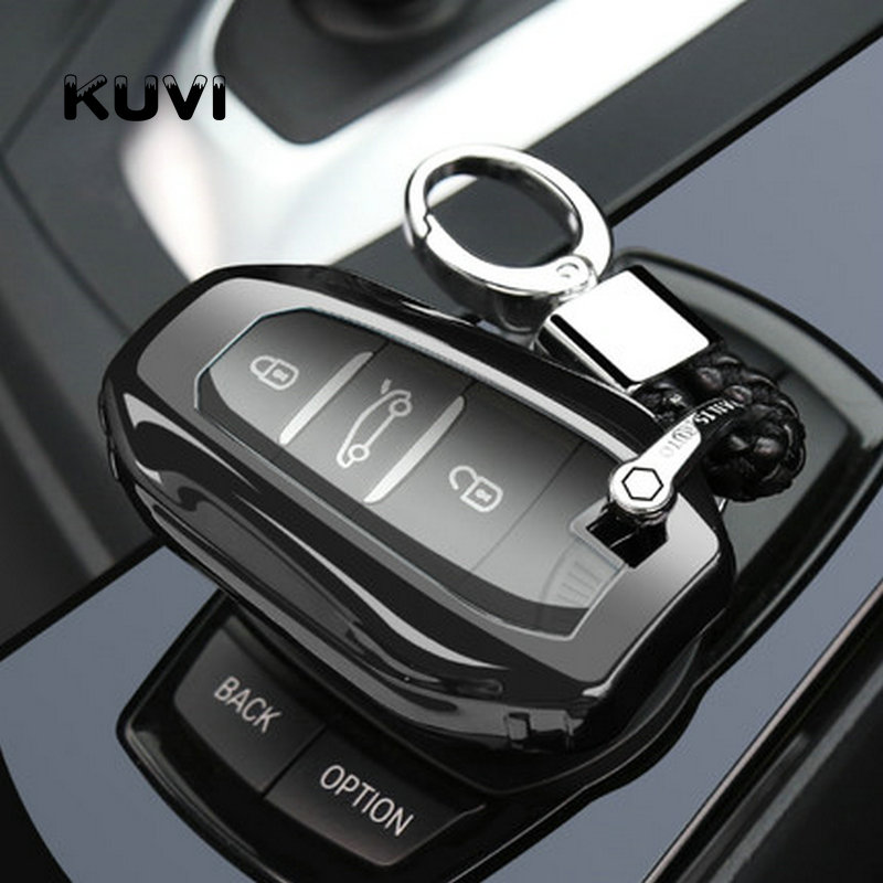pc Tpu Car Key Case Cover Shell For 2019 Peugeot 2008 301 307 3008 308 407 408 4008 508 Auto Smart Protection Key fob Cover Case