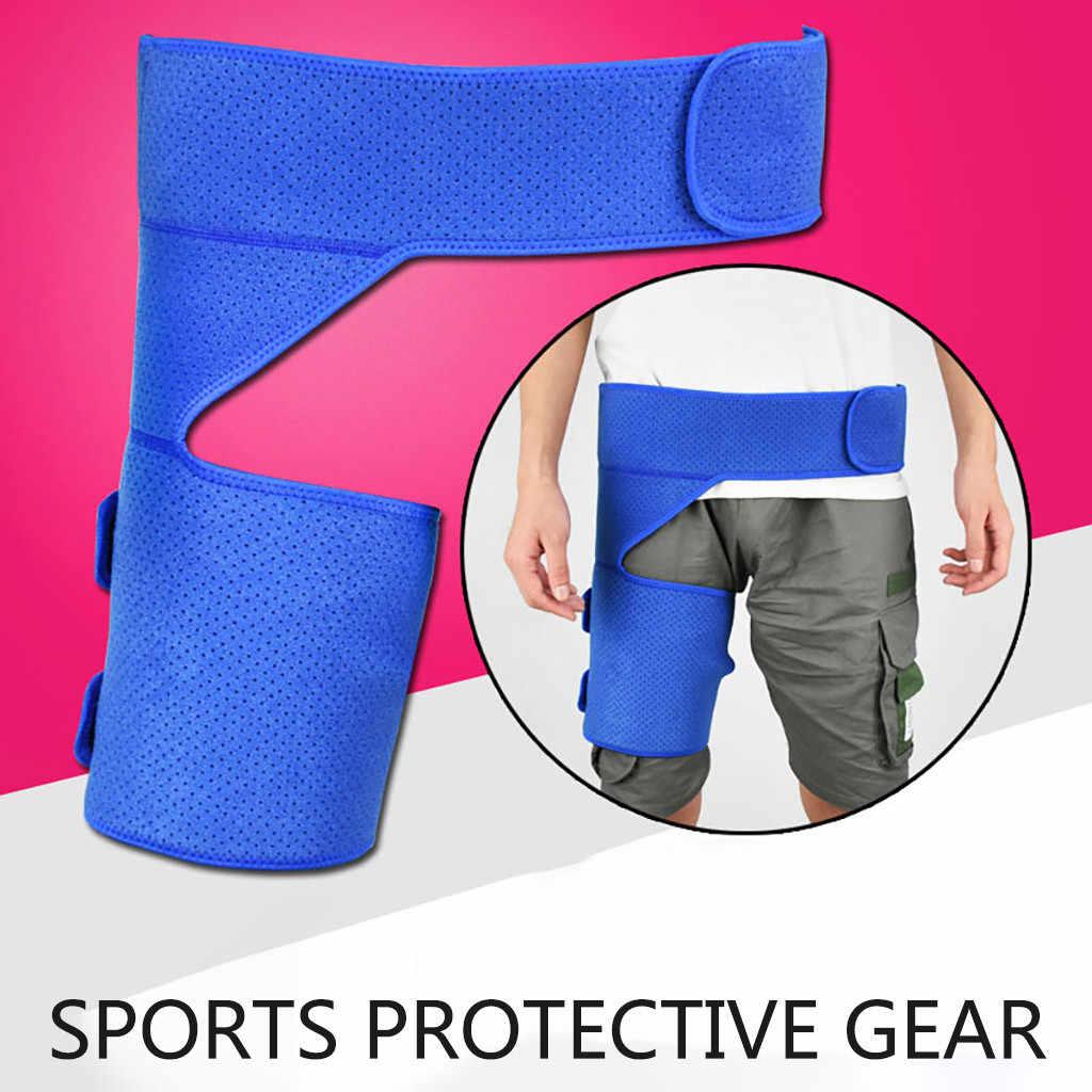 圧縮レッグウォーマー保護臀部と太もも防止筋肉の緊張運動保護 # D