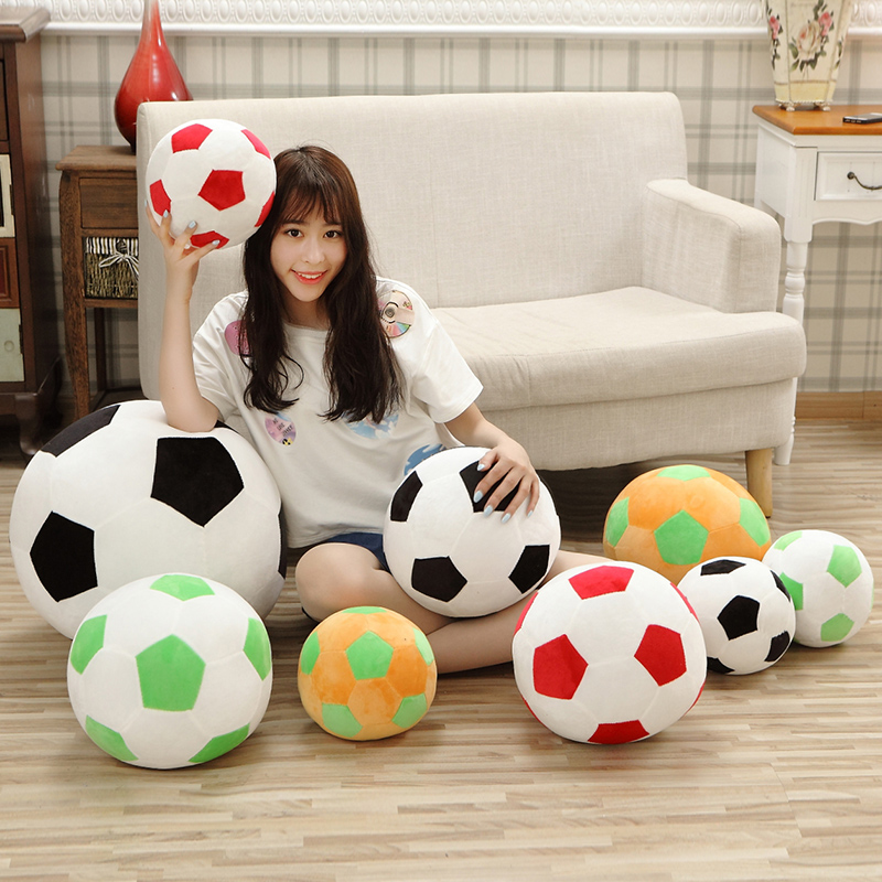 1pc 20cm Home Sofa Soccer Ball Plush Pillow Toys World Cup Football Fan Memorable Gift 4 Colors