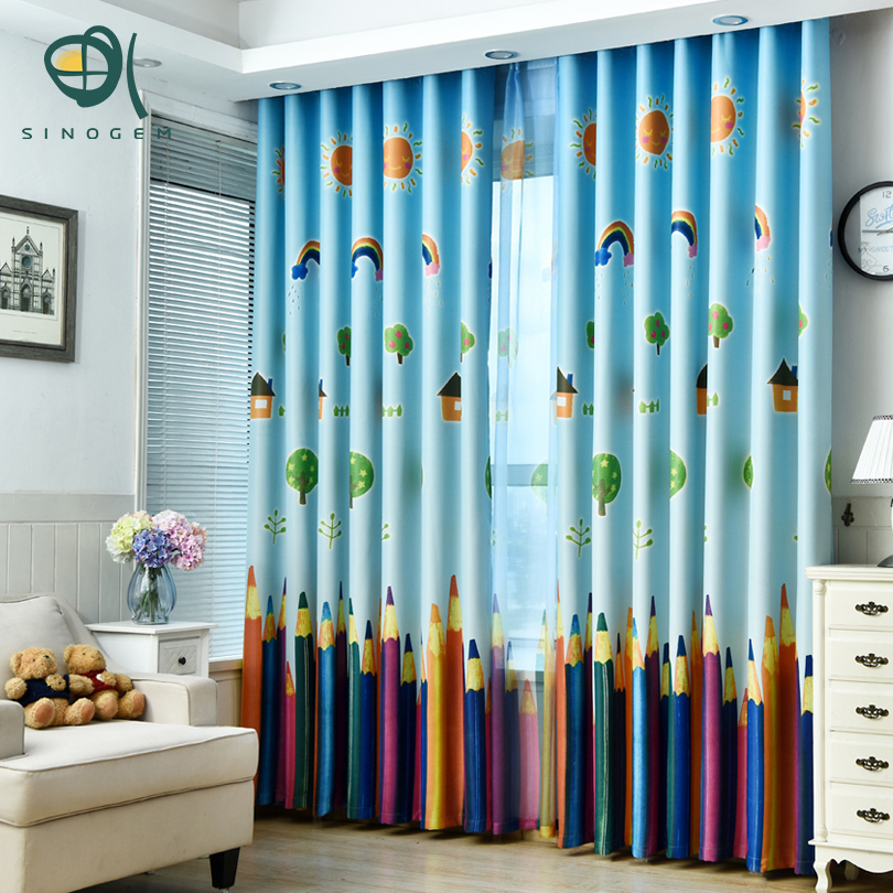lpiz de la historieta nios cortinas ventana cortina cortinas del dormitorio para nios nio saln with cortinas de habitacion de bebe