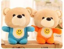 5PCS / LOT Hot 10cm Kawaii Små nallebjörnar Plush Leksaker Fyllda djur Fluffy Bear Dolls Mjuka Barnleksaker
