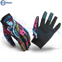 Pair M L XL High Quality Unisex Women Men Motorcycle Cycling Gloves Colorful Racing Full Finger