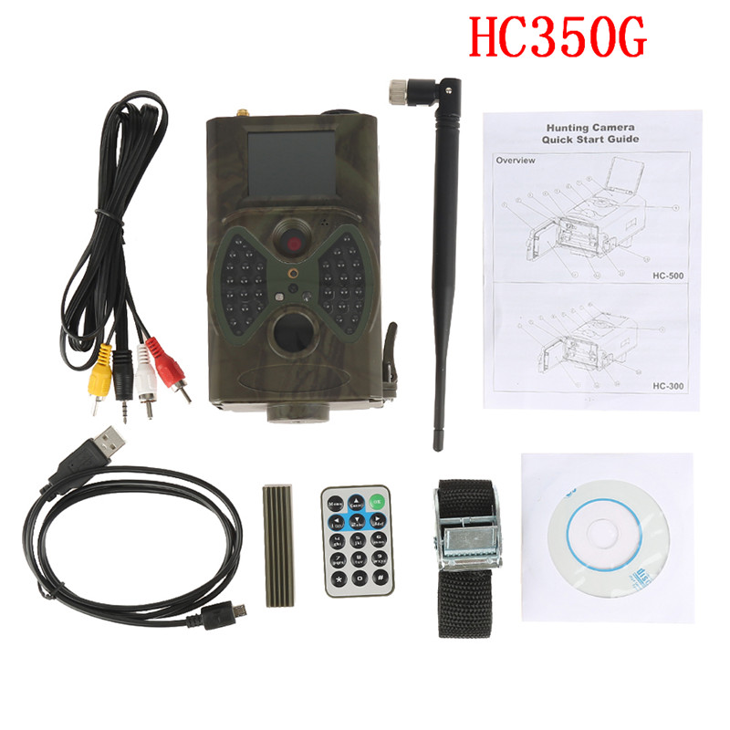 HC350G Hunting Trail Camera 3G HD 16 MP 1080P Video Night Vision MMS GPRS Scouting Infrared Game Hunter Cam GAME CAMERA free shipping ip56 waterproof mms gprs night vision trail game hunting camera 0 2s shooting time three sensors cam