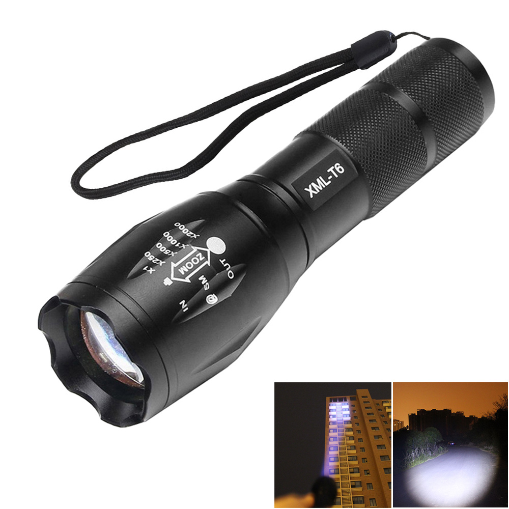 Reiled Professional Brightness Mini Lamp 5 Modes Zoomable Adjustable Flashlight Torch