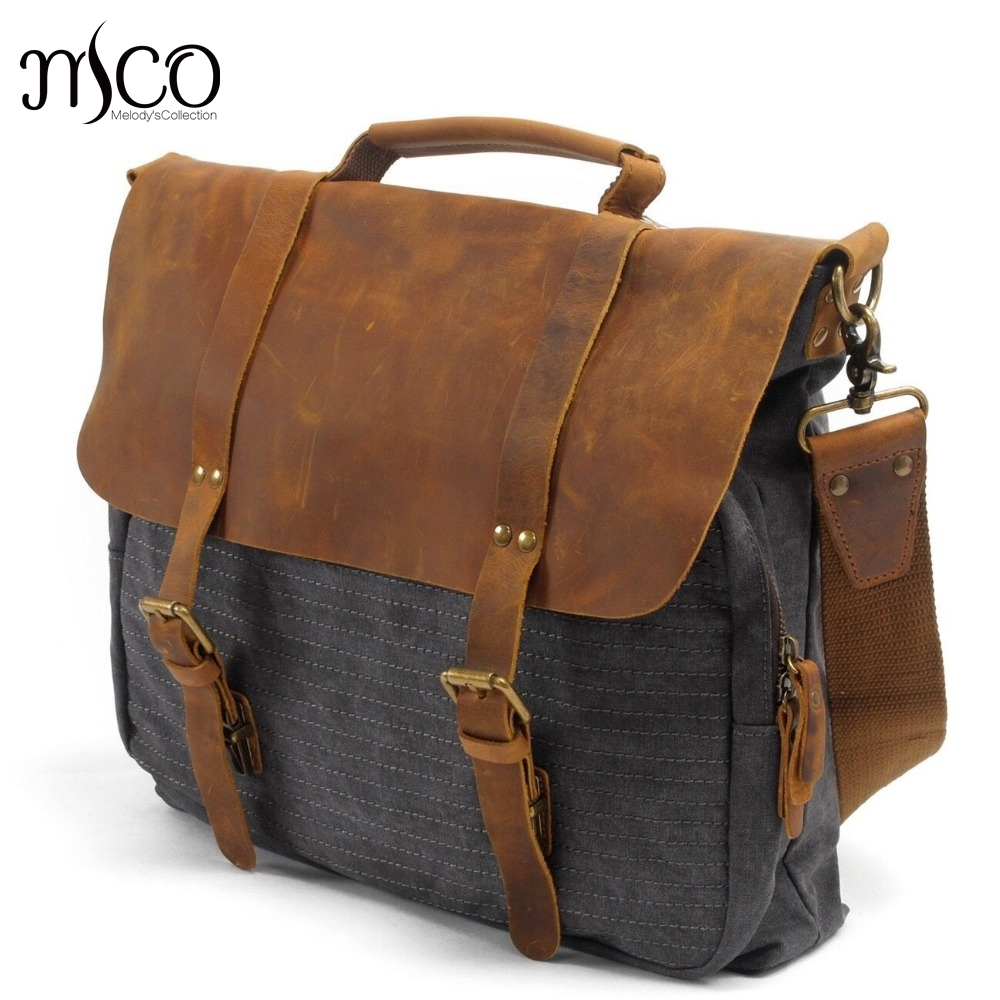 Men Canvas School Bags Vintage Military Male Casual  Business Laptop Bag Brand Design Handbag Tote Shoulder Travel Leisure bag aosbos fashion portable insulated canvas lunch bag thermal food picnic lunch bags for women kids men cooler lunch box bag tote