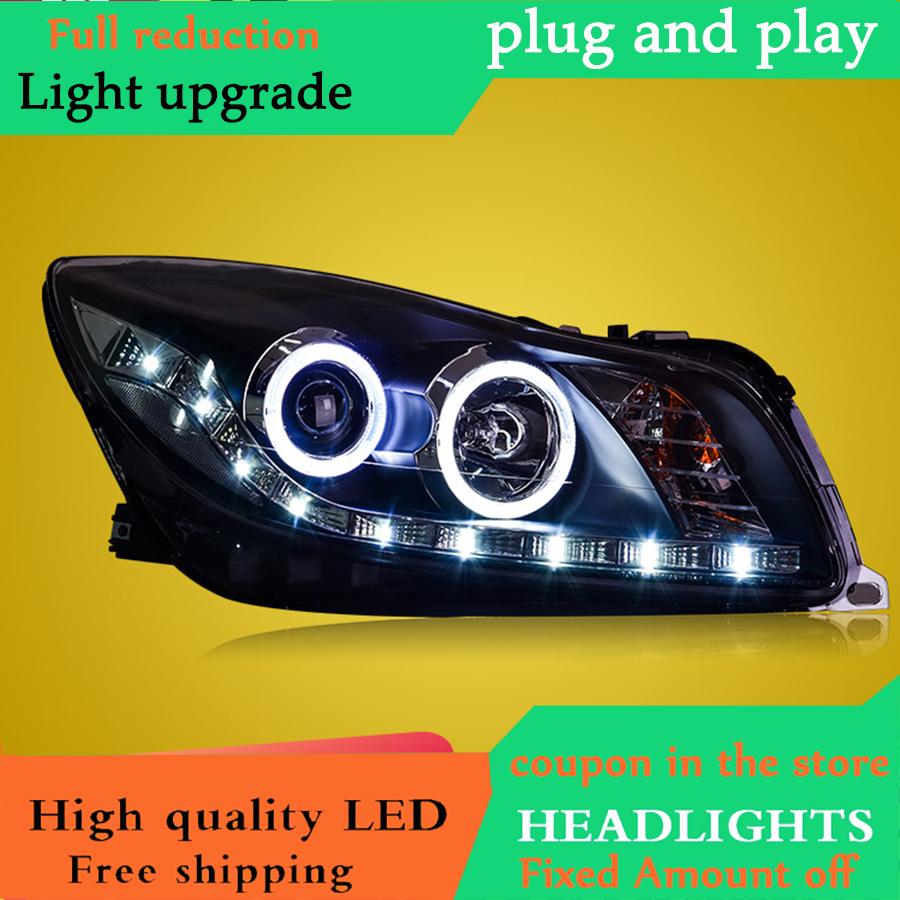 Car Styling For Buick Regal led headlights For Opel Insignia head lamp Angel eye led DRL
